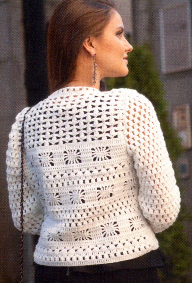 Crochet jacket PATTERN, casual crochet jacket, warm jacket pattern ...
