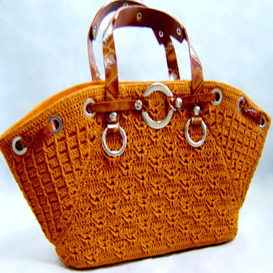 Designer Crochet Handbags : Crochet bag PATTERN, crochet casual bag pattern, crochet designer bag ...