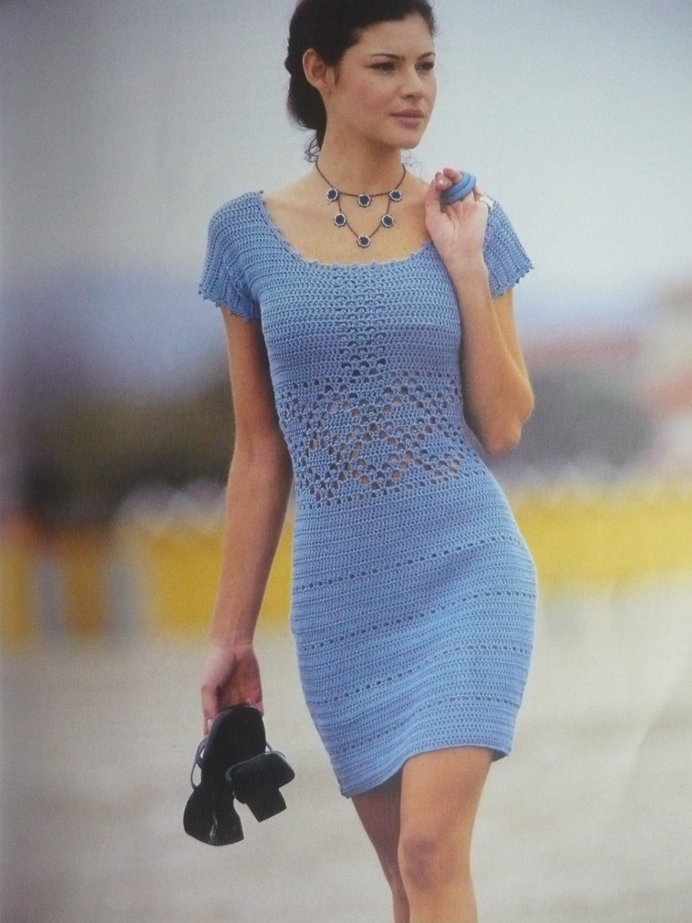 Crochet Dress : ... gr Crochet dress PATTERN, cocktail crochet dress, beach dress pattern