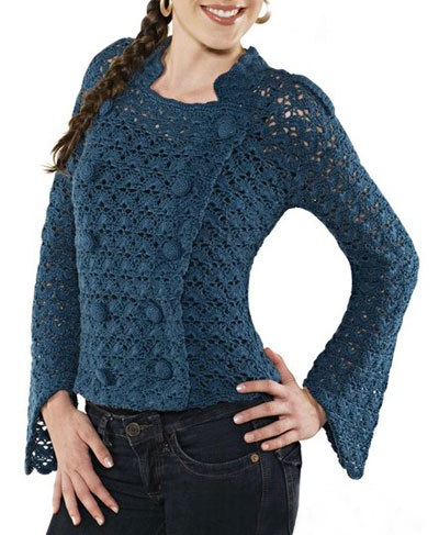 Crochet Patterns Jacket : ... gr Crochet jacket PATTERN, casual crochet jacket, warm jacket pattern