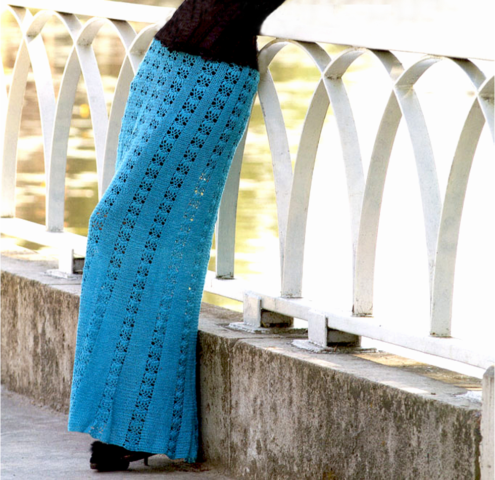 Crochet skirt PATTERN, maxi crochet skirt pattern, beach crochet skirt ...