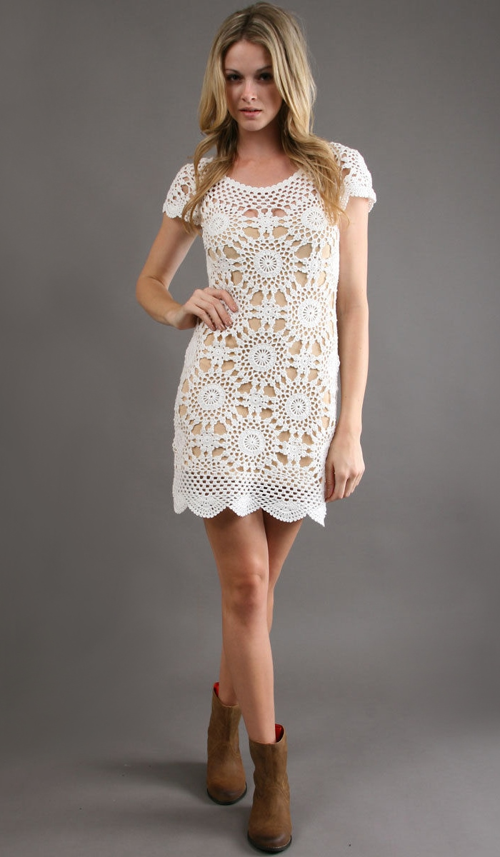 Crochet Dress : dress PATTERN, sexy crochet beach pattern, designer crochet dress ...