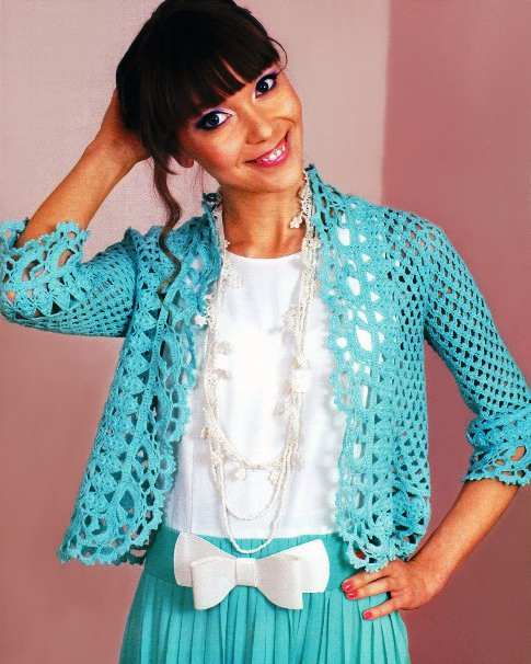... Crochet jacket PATTERN, evening jacket pattern, party crochet jacket