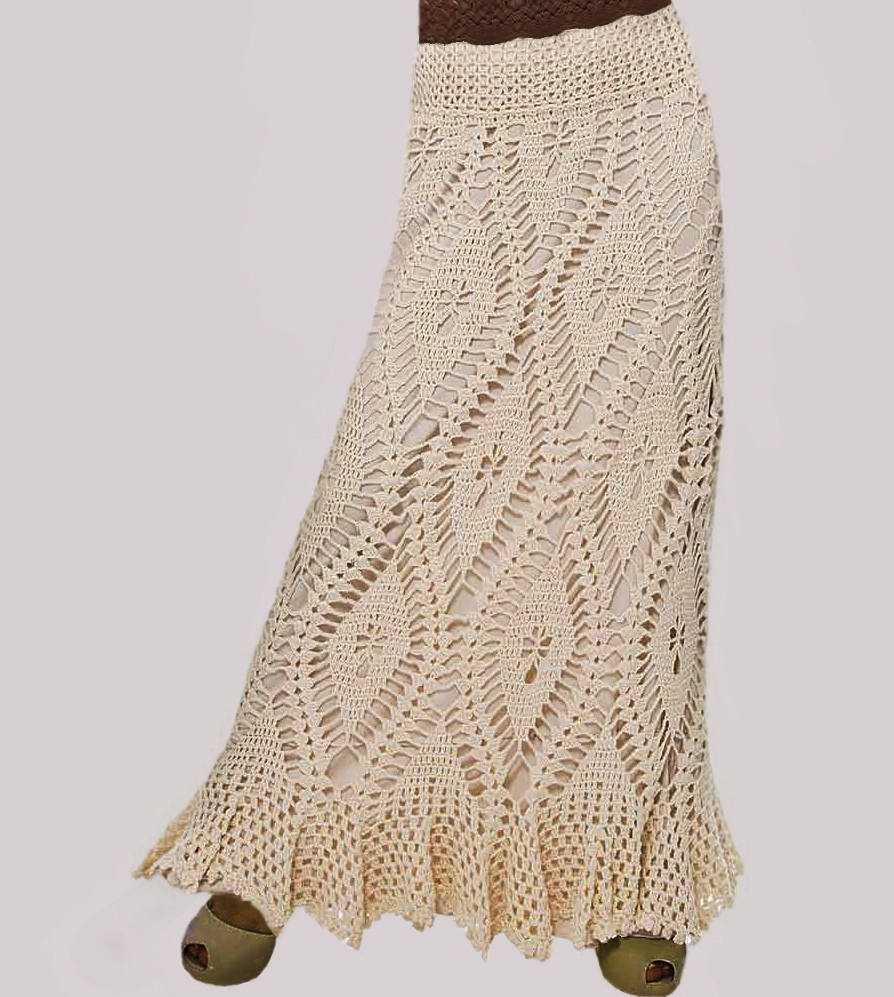 Skirt Crochet Pattern Pictures to pin on Pinterest