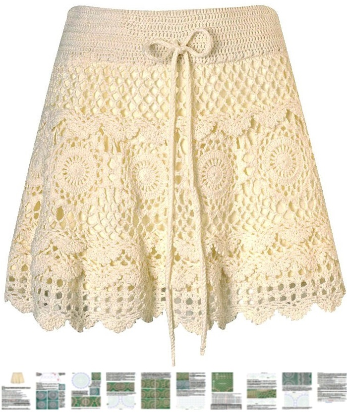 Free Crochet Wrap Skirt Pattern : Crochet skirt PATTERN, sexy beach crochet skirt pattern ...