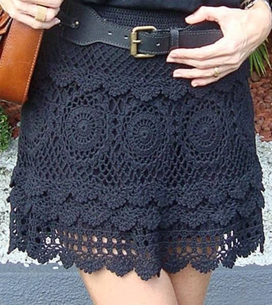 Crochet Skirt : Crochet skirt PATTERN, sexy beach crochet skirt pattern, skirt with ...