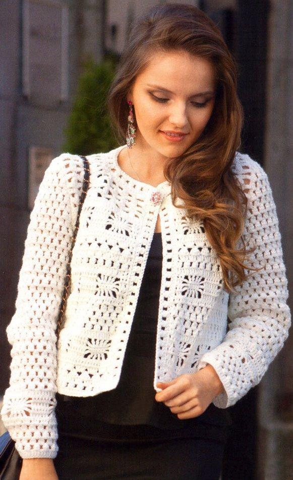 Crochet Jacket Pattern Casual Crochet Jacket Warm Jacket Pattern