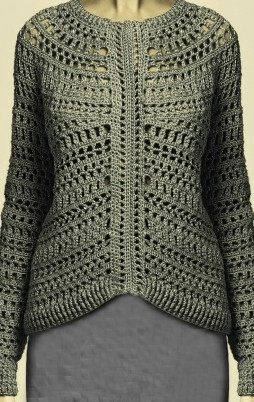 Favorite patterns - crochet pullover 4012a