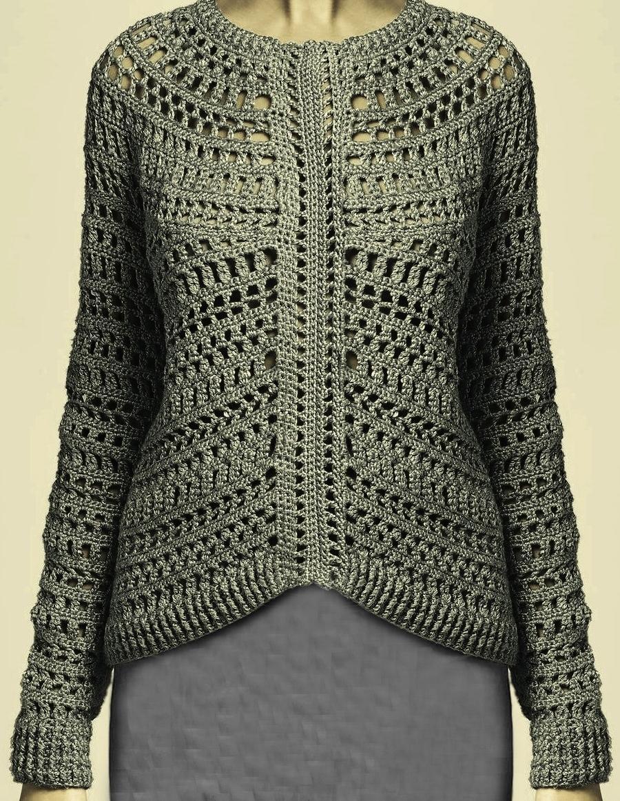 25443f9a6 Crochet pullover PATTERN