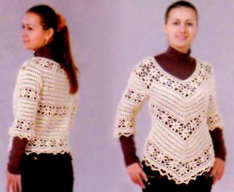 Crochet Pullover Pattern Granny Squares Crochet V Neck Tunic