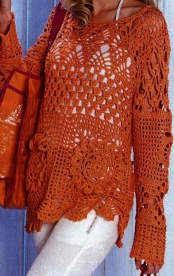 Favorite patterns - crochet tunic 4017c