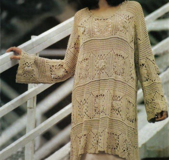 Crochet Tunic Pattern Boho Dress Pattern Beach Crochet Boho Tunic