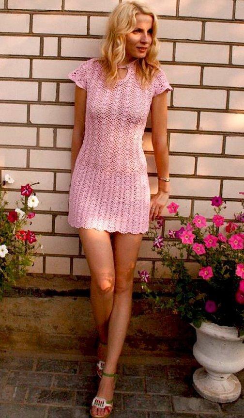 Crochet Dress Pattern, Crochet Sexy Mini Dress, Crochet Tunic Pattern -4021