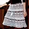 Crochet skirt PATTERN, sexy crochet skirt pattern, beach crochet skirt.