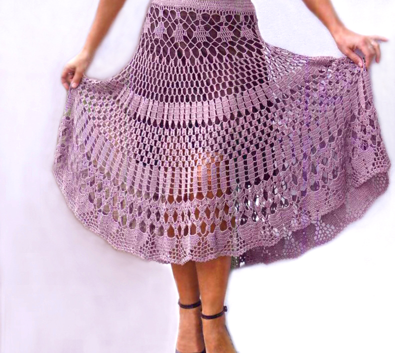 Crochet skirt PATTERN, maxi crochet skirt pattern, beach crochet ...