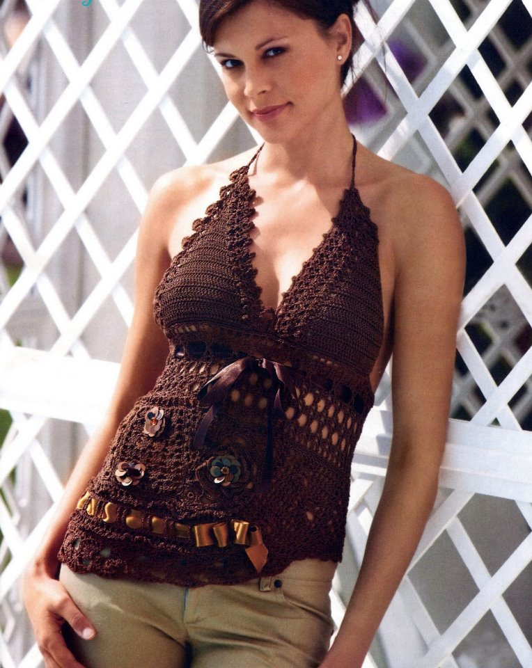 Crochet Top Pattern Halterneck Crochet Top Pattern Beach Top Pdf
