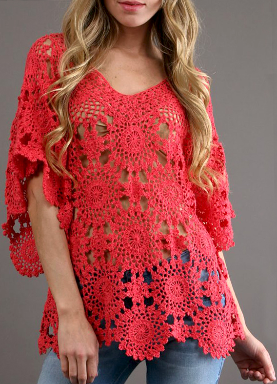 Crochet Tunic Pattern Beach Tunic Pdf Designer Crochet Tunic