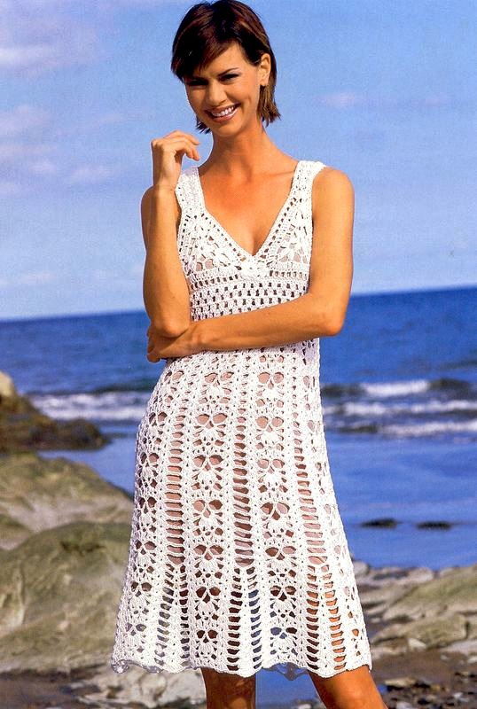 Beach Dress PATTERN Beach Crochet Dress Pattern Sexy Resort Dress Simple Crochet Dress Patterns