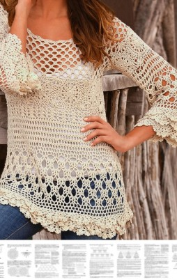 Favorite patterns - crochet tunic 4028