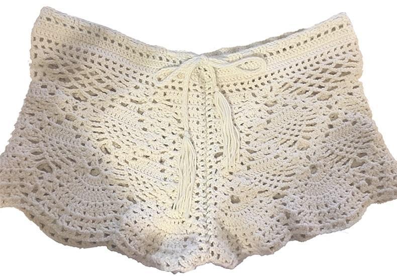 Crochet Shorts Pattern Sexy Beach Crochet Shorts Detailed Crochet