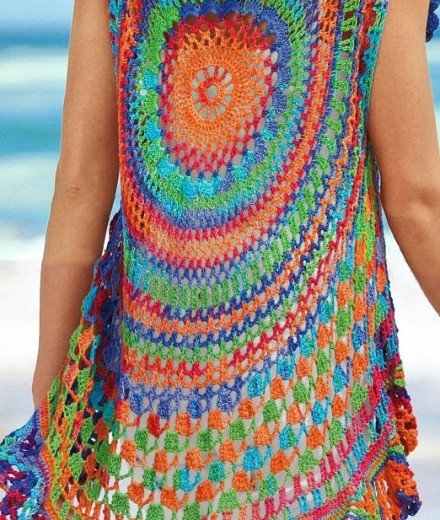 Boho Crochet Patterns : Crochet vest PATTERN, boho vest pattern, crochet beach boho cardigan ...