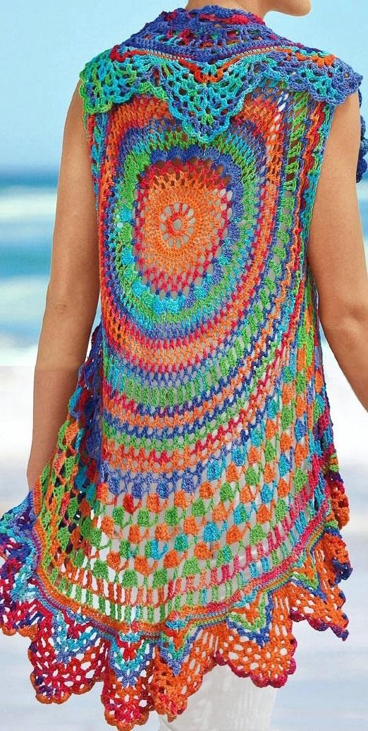Crochet Vest Pattern Boho Vest Pattern Crochet Beach Boho Cardigan