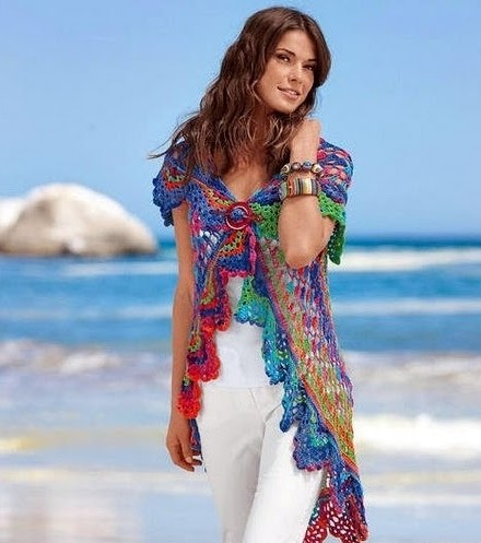 Crochet Circular Vest Free Pattern Steemkr