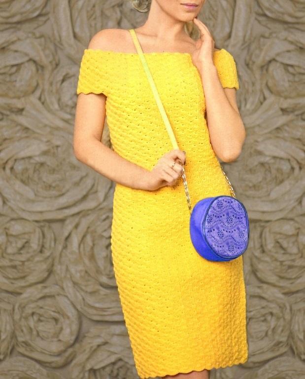 Crochet Dress Pattern Cocktail Crochet Dress Off Shoulder Dress
