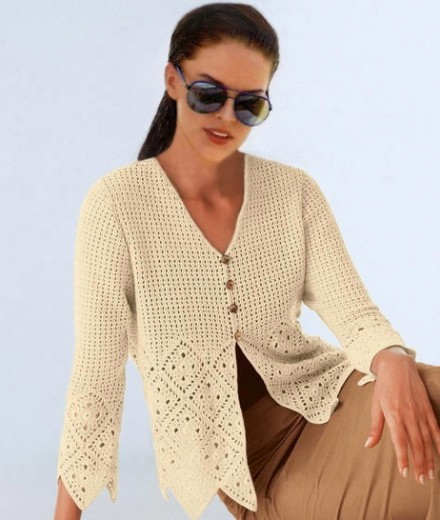 Crochet cardigan PATTERN, casual cardigan pattern, casual