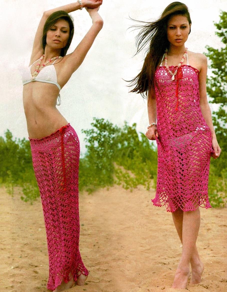 Crochet dress PATTERN, maxi crochet skirt pattern, beach crochet ...