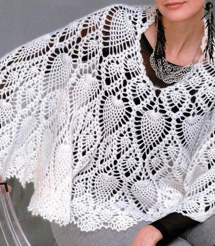Crochet cape pattern crochet capelet pattern with pineapple motif crochet cape pattern crochet capelet pattern with pineapple motif dt1010fo