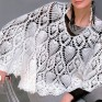 Crochet cape PATTERN, crochet capelet pattern with pineapple motif.
