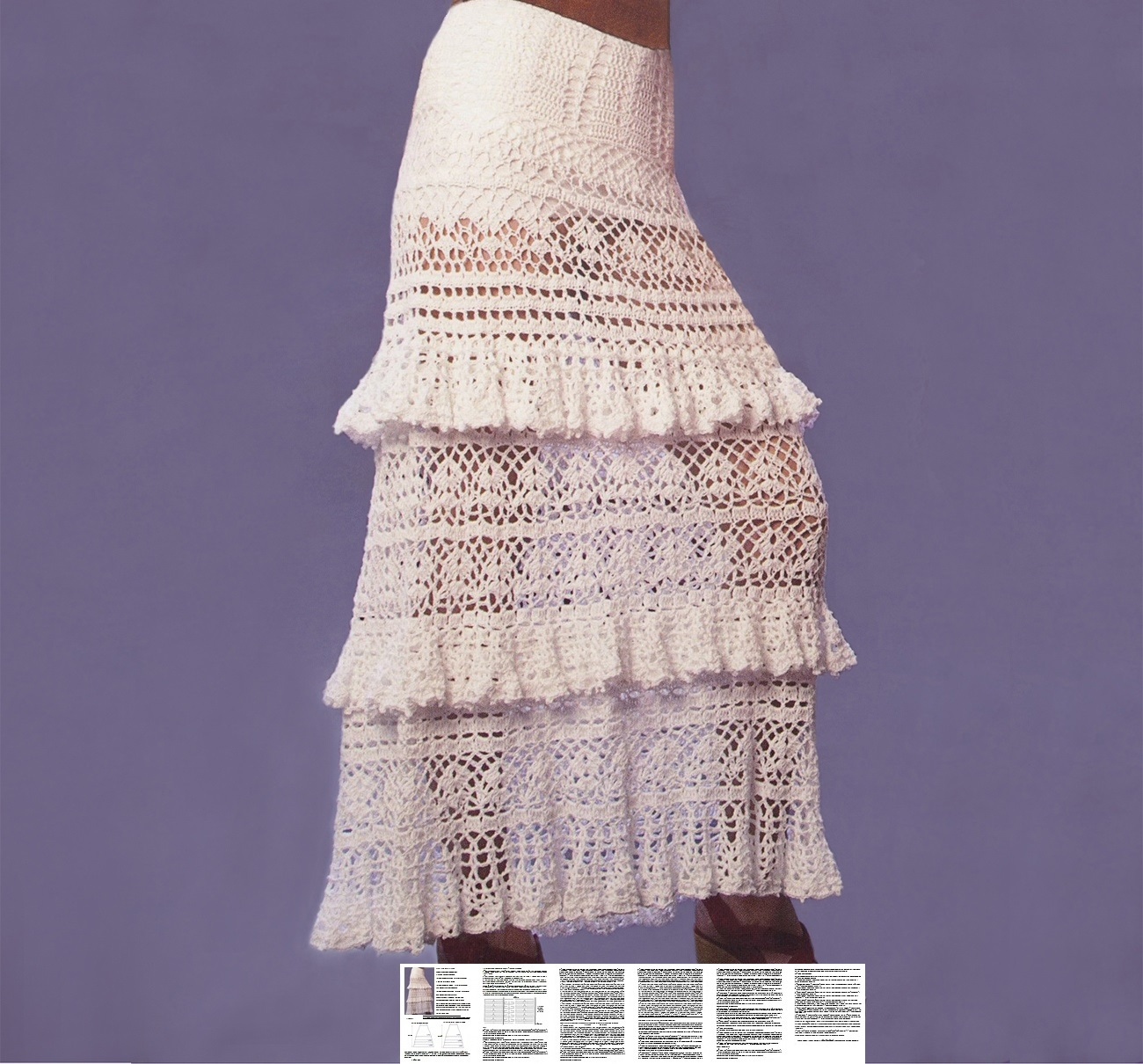 Crochet Skirt Pattern Maxi Crochet Skirt Pattern Boho Crochet