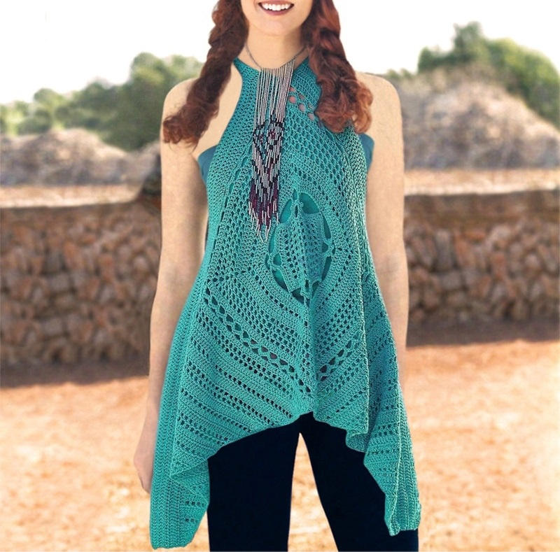 Crochet Top Pattern Detailed Instructions In English For Every Row