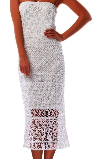 Crochet dress PATTERN, maxi crochet skirt pattern ...