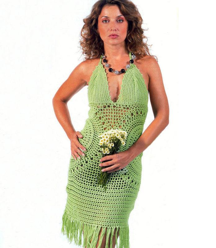 Crochet Dress Pattern Cocktail Crochet Dress Party Dress Pattern