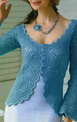 Favorite patterns - crochet jacket 3027k
