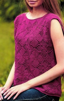 Favorite patterns - crochet top 6035