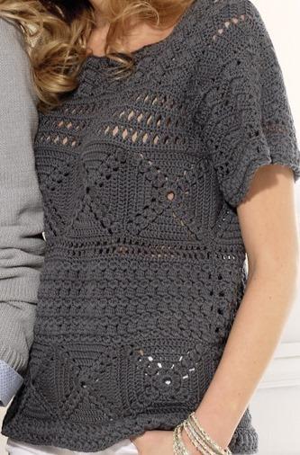 No YARN Breaking Crochet Top PATTERN written in | Etsy |Thread Crochet Top
