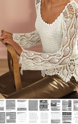 Favorite patterns - crochet tunic 4035a