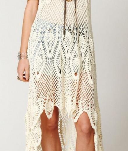 Designer crochet dress PATTERN, beach wedding dress crochet pattern ...