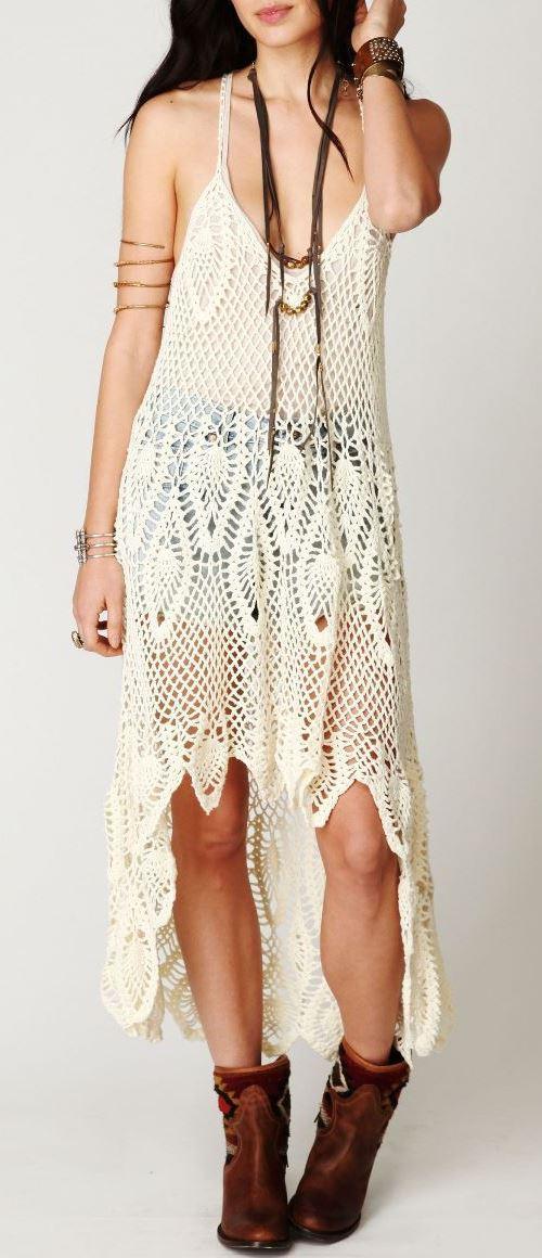 Designer Crochet Dress Pattern Beach Wedding Dress Crochet Pattern