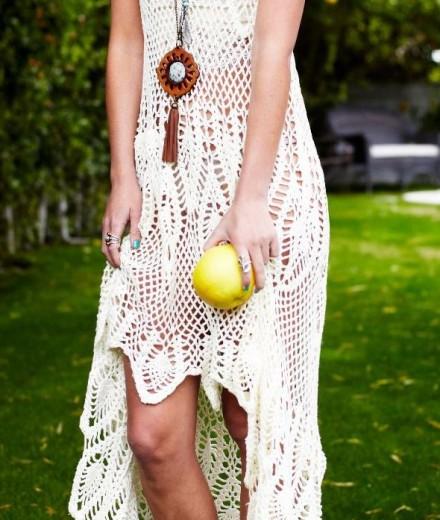 Beach wedding crochet dress PATTERN, designer crochet dress pattern ...