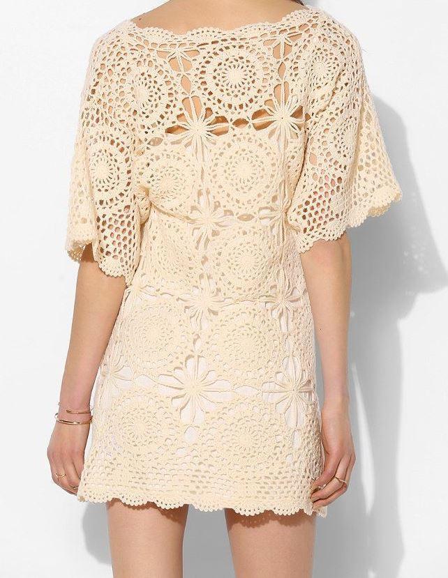 Crochet dress PATTERN, designer dress pattern, boho crochet dress ...