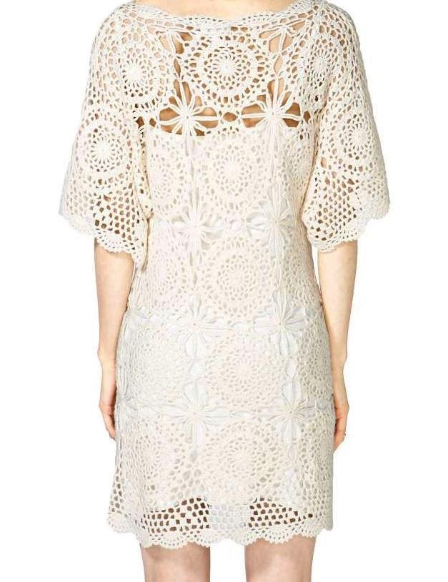 Crochet Dress Pattern Designer Dress Pattern Boho Crochet Dress
