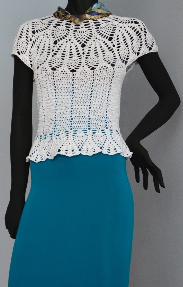Tunic With Crochet Pineapple Motifs Pattern Pineapple Motifs Top