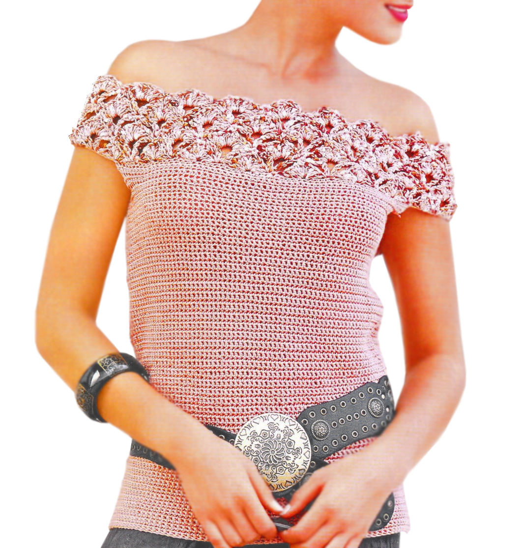 Crochet Top Pattern Sexy Crochet Top Pattern Off Shoulders Crochet