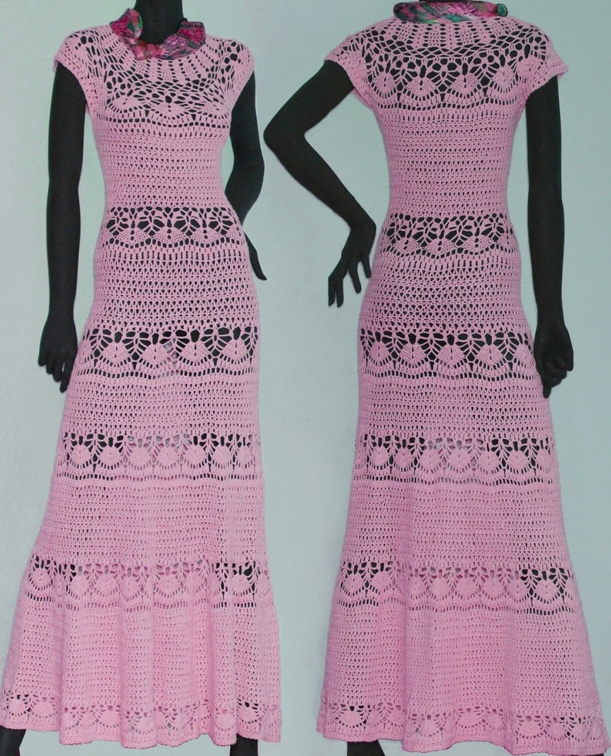Boho Dress Pattern Maxi Crochet Dress For Beach Wedding Crochet