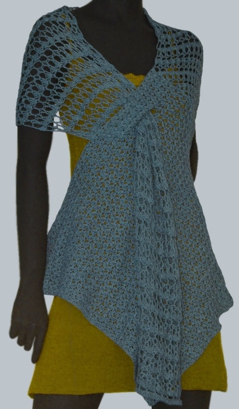 Crochet Wrap Pattern Beach Boho Crochet Tunic With Asymmetric Hem