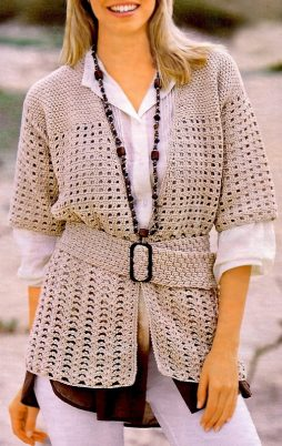 Favorite patterns - crochet jacket 3041b